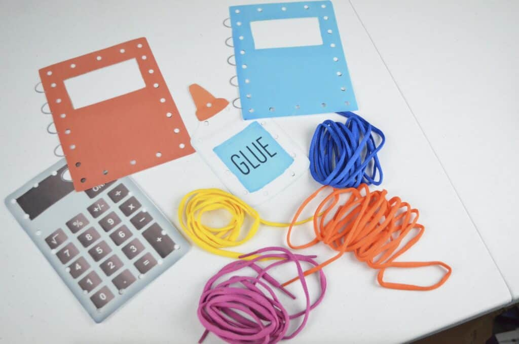 printable lacing cards with shoelaces