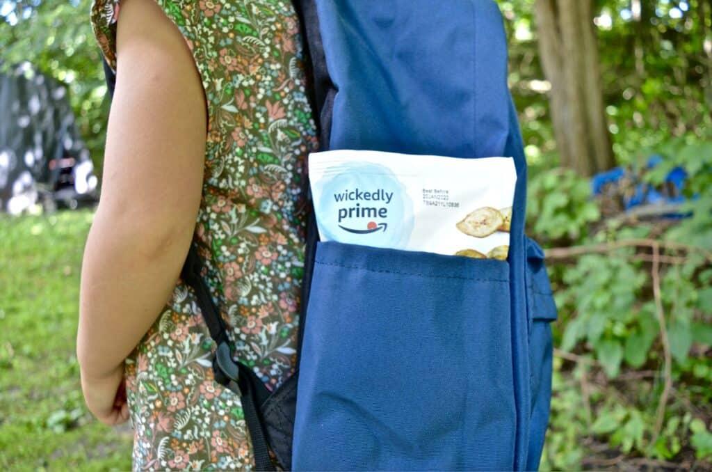 wickedly prime snack in backpack