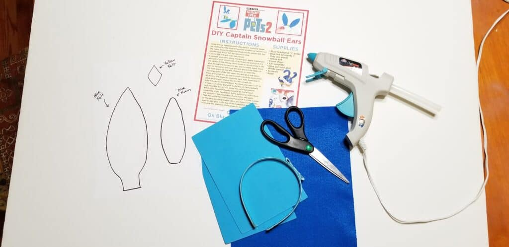 craft supplies for bunny headband