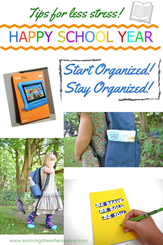 happy school year organization tips