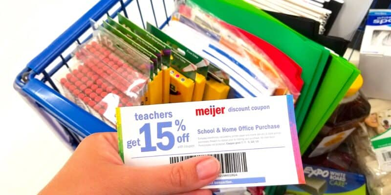 teacher discount coupon at meijers grocery