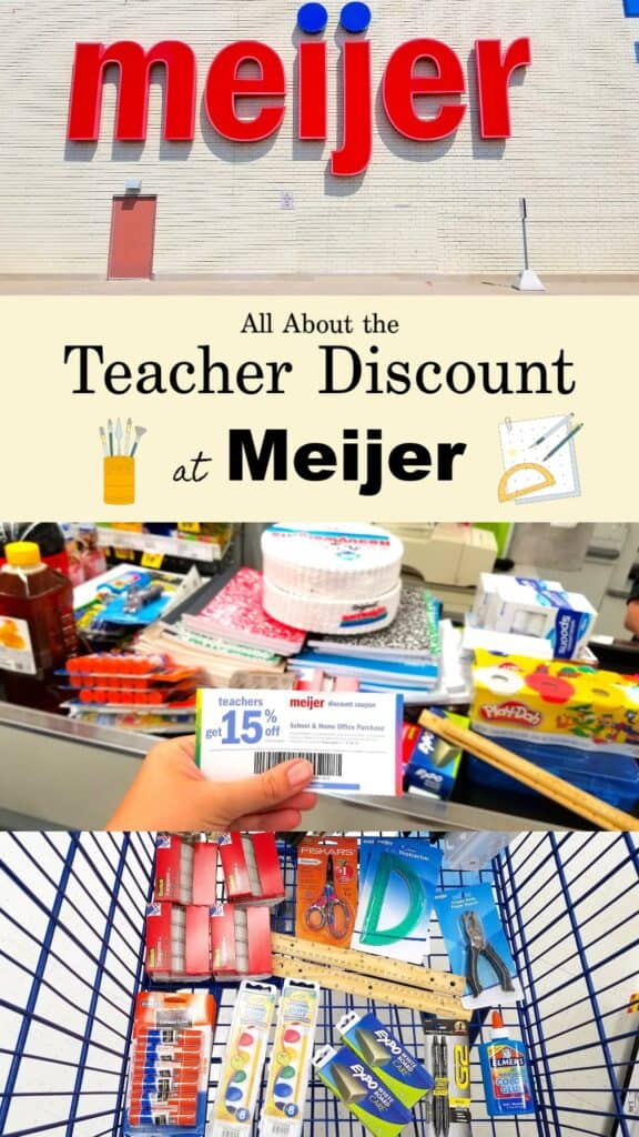 Teacher Discounts for Back to School Shopping at Meijer