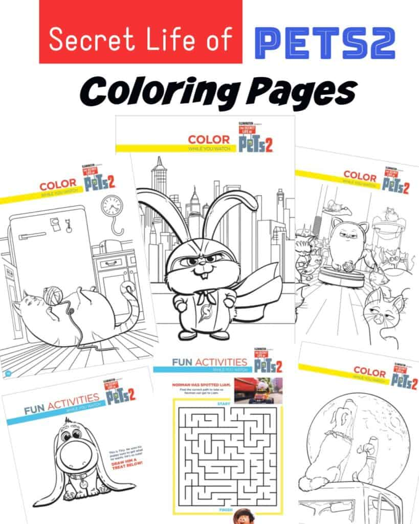Secret Life of Pets Colorings Pages