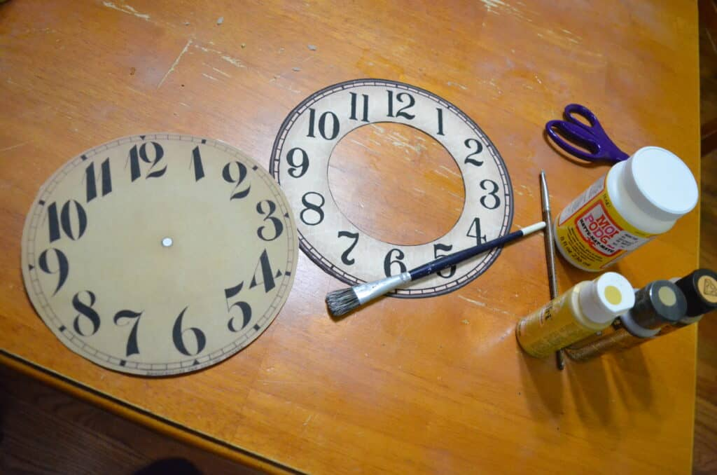 vintage printable clock faces