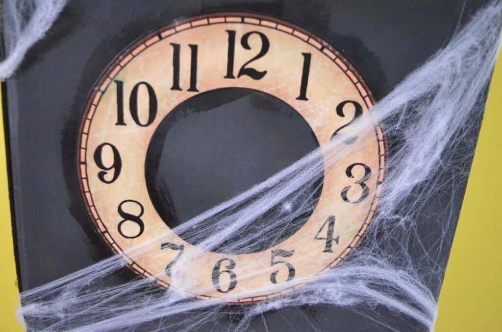spooky vintage clock face
