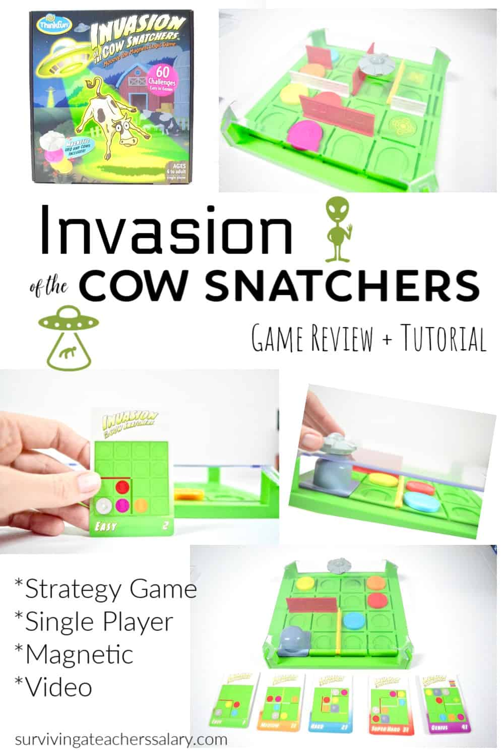 Invasion of the Cow Snatchers Game Night Review by ThinkFun