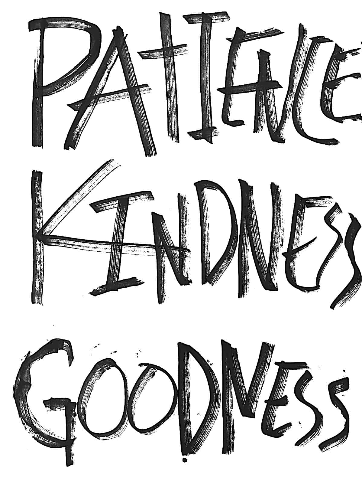 patience kindness goodness inspirational poster