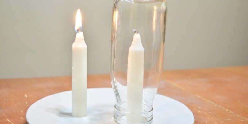fire safety candle experiment