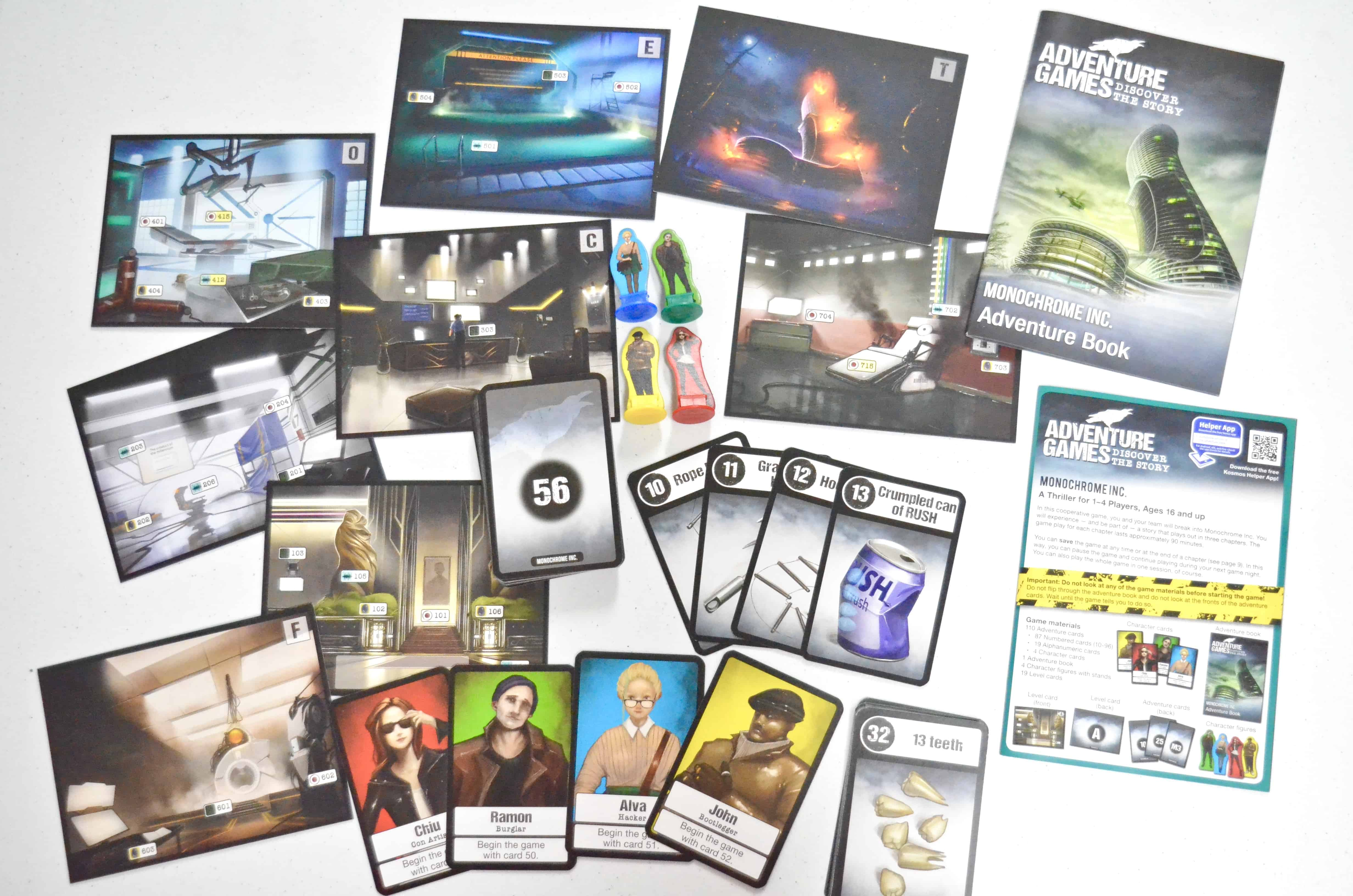 Adventure Games Monochrome cards by KOSMOS