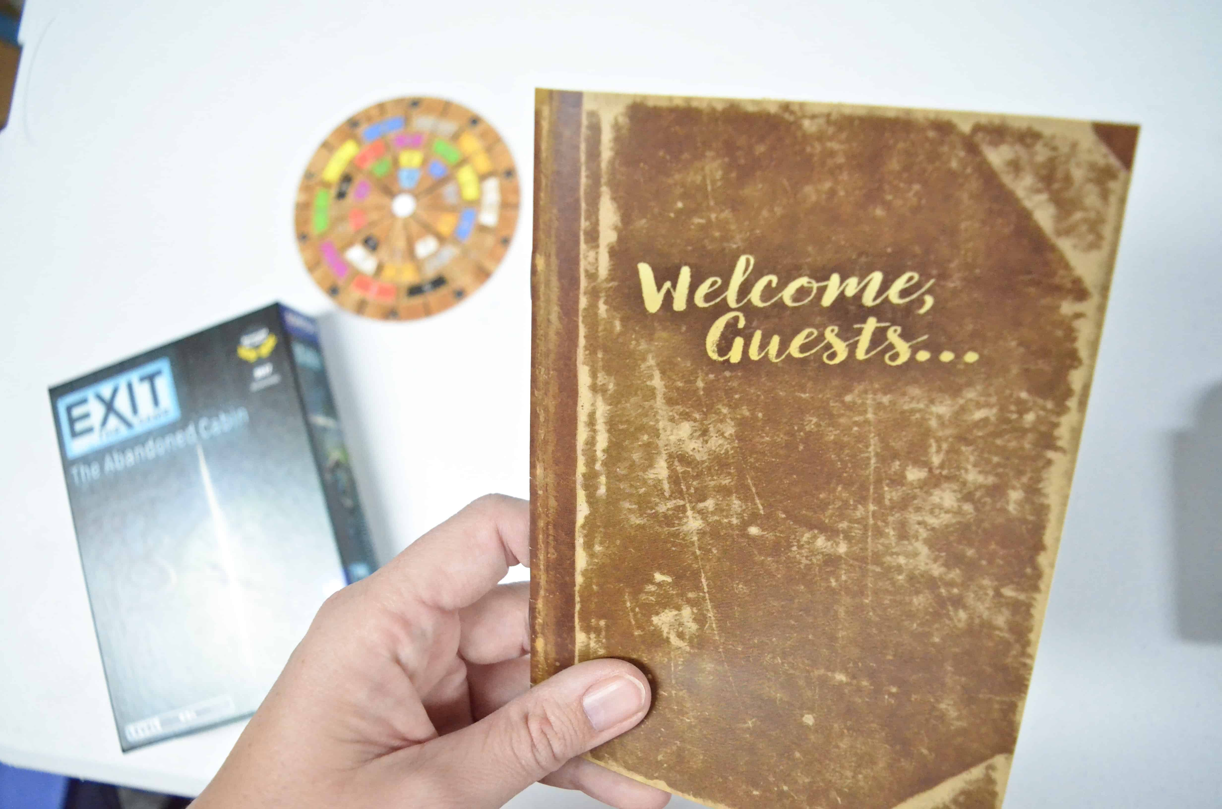 welcome guests brown journal book