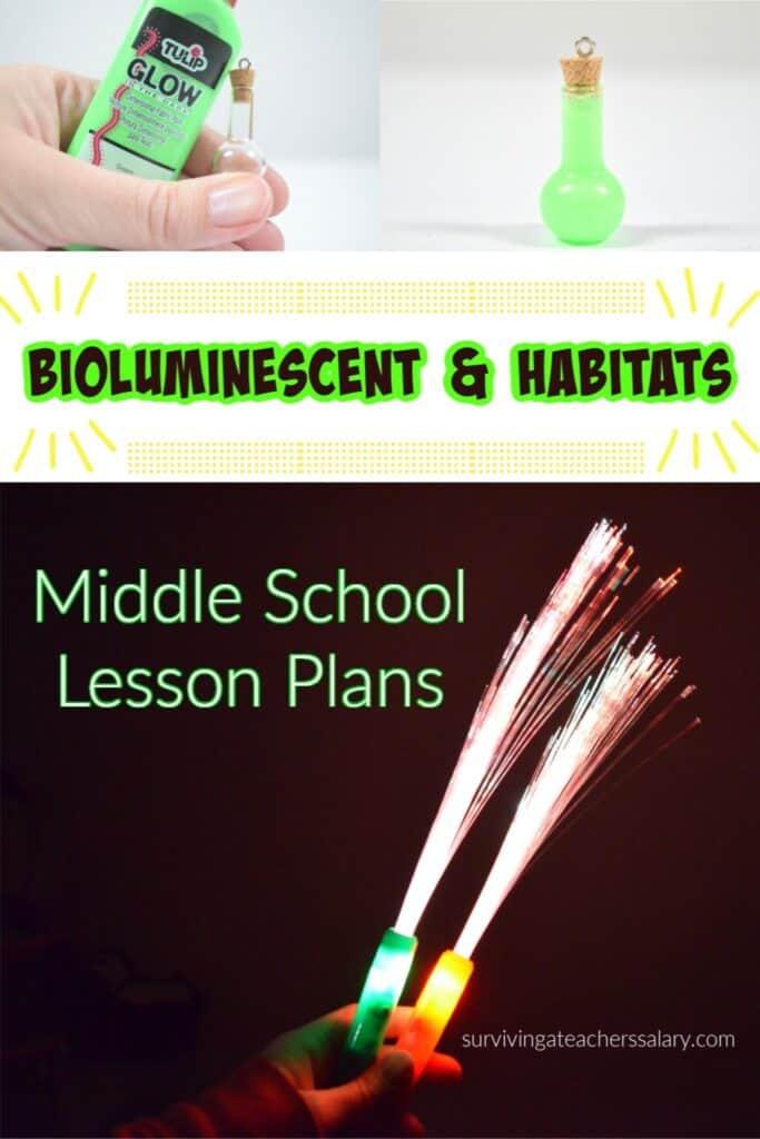 Bioluminescent & Habitats Science Lesson Plan for Middle School