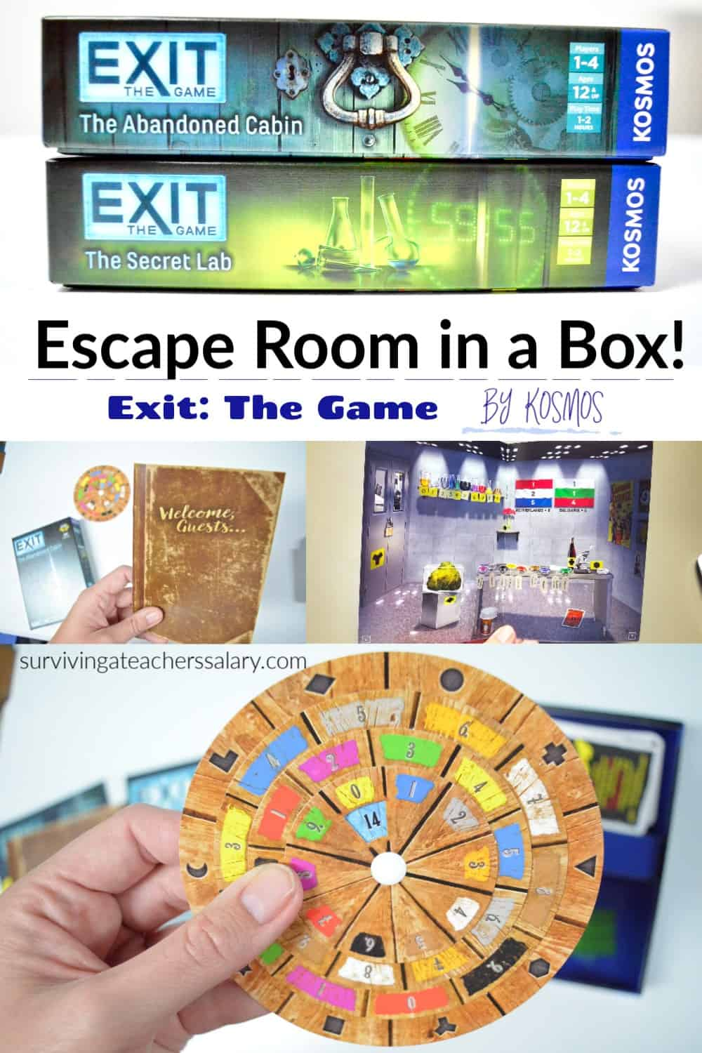 Home Escape Room Game Night by KOSMOS - EXIT: The Game series