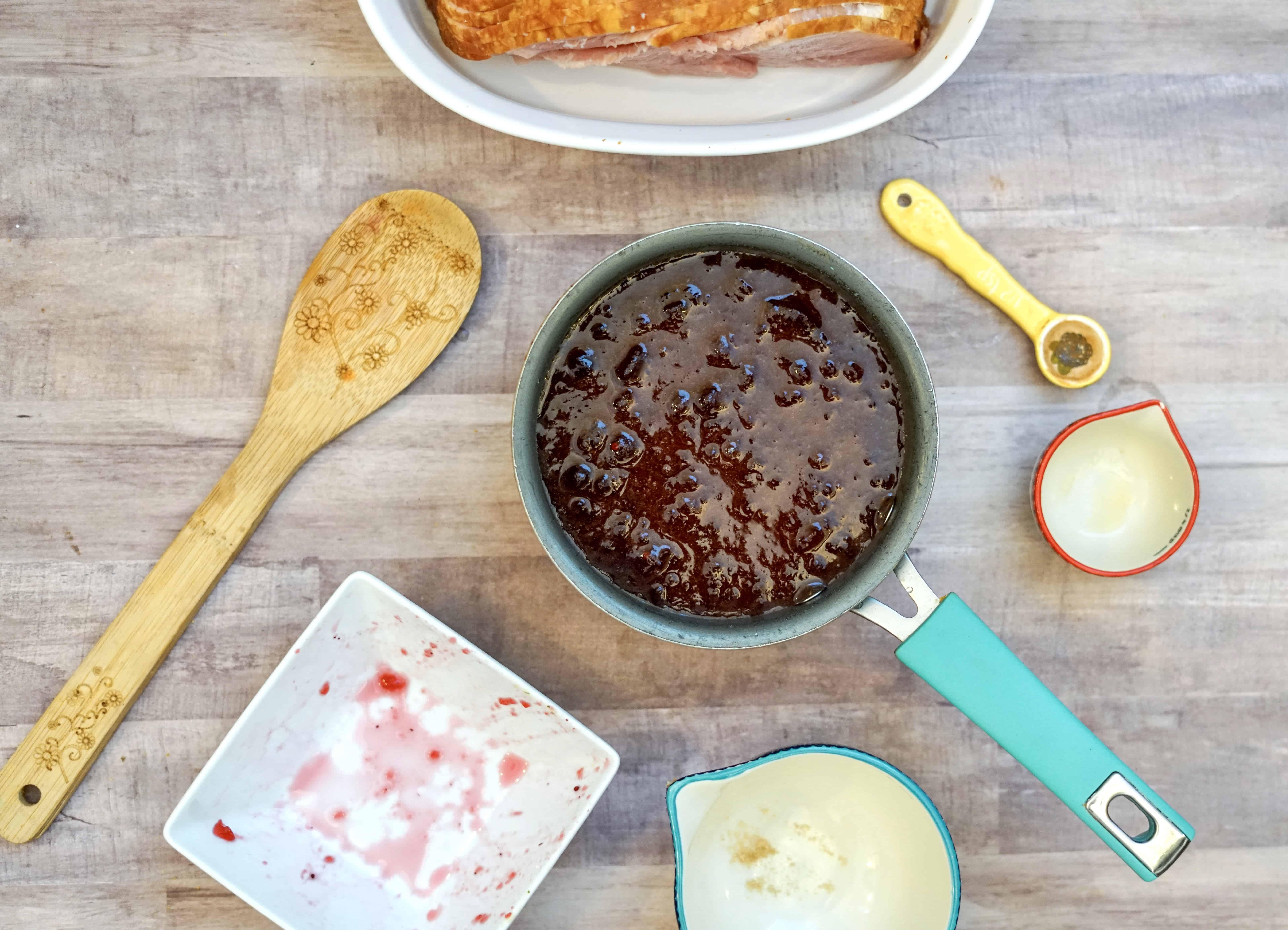 Easy Cranberry Ham Glaze Recipe - Traditional Christmas Dinner Idea