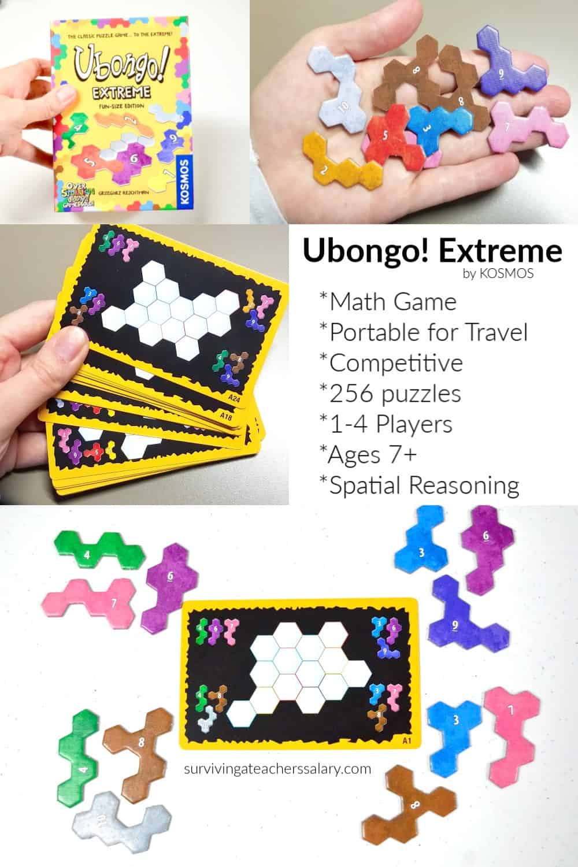 QUICK Math Game - Ubongo Extreme KOSMOS Road Trip Travel Game
