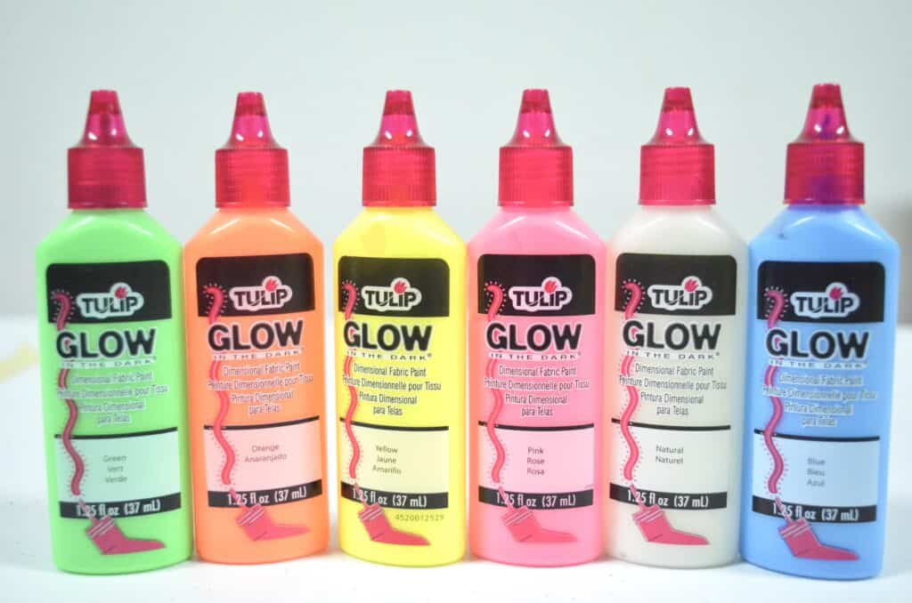 glow in the dark paint bottles
