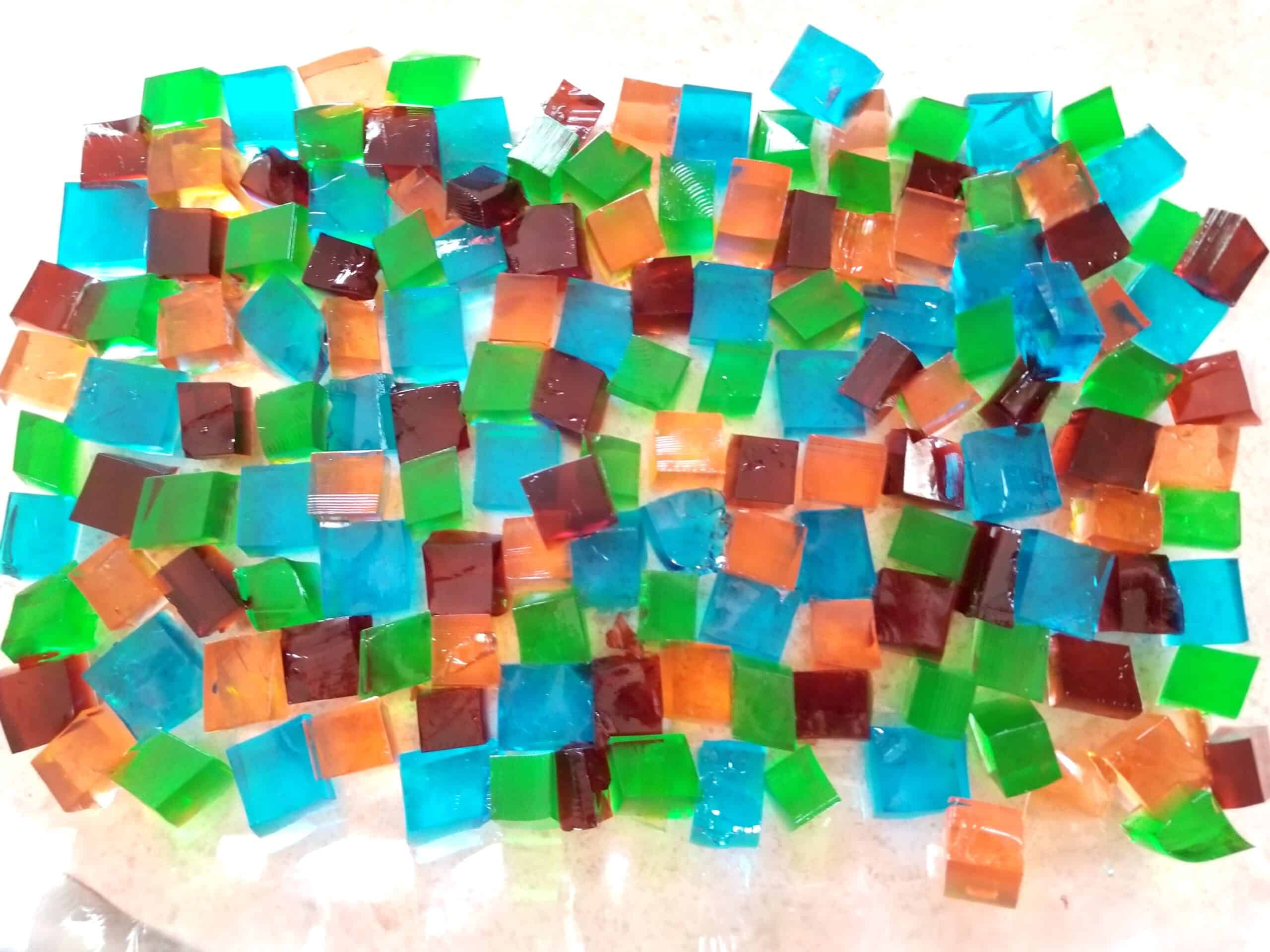 stained glass jello cubes