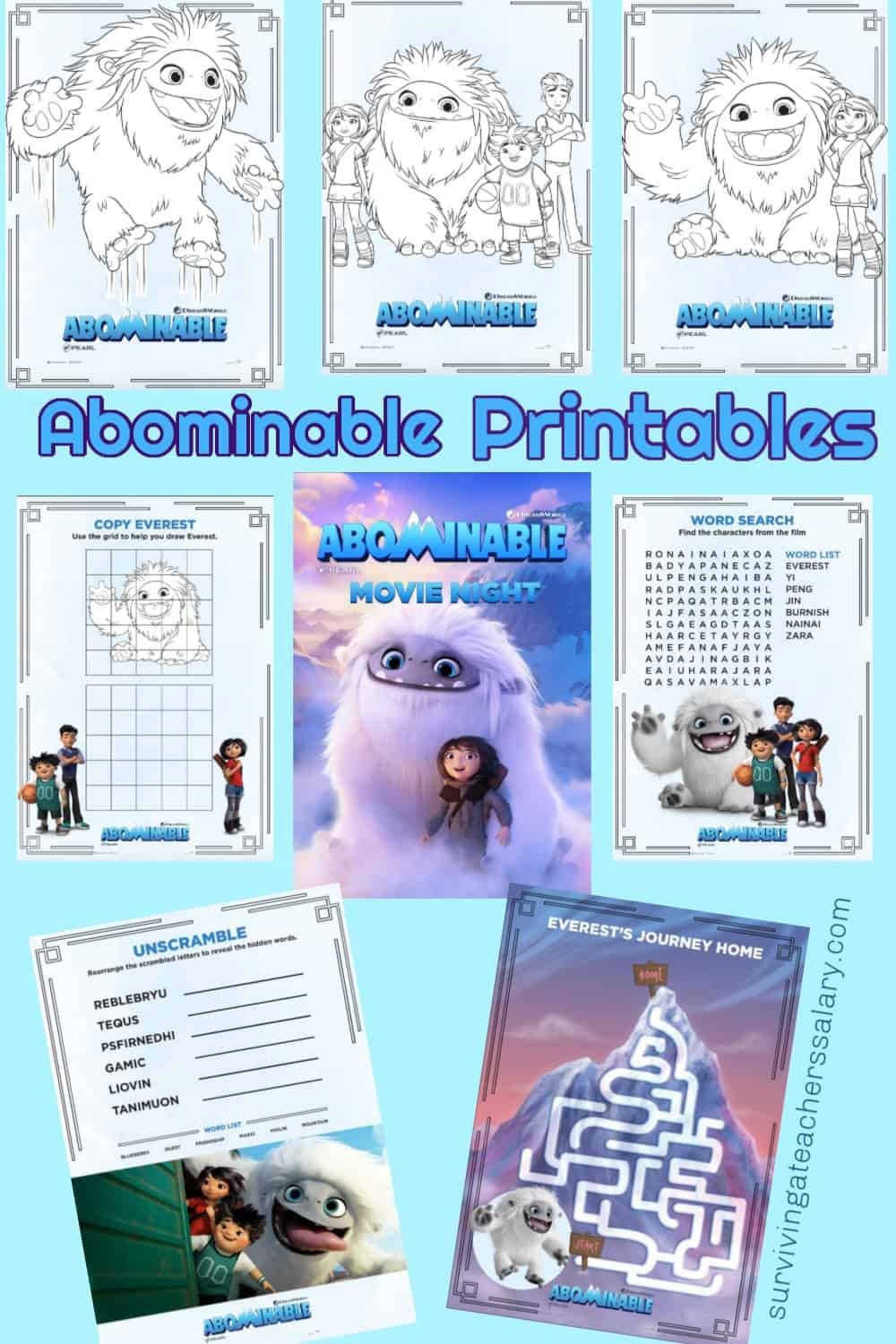 Free Abominable Printable Coloring Pages, Games & Recipes