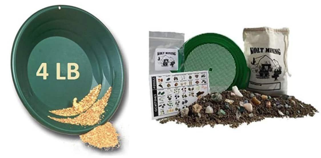 Gold Paydirt & Gem Panning at home kits