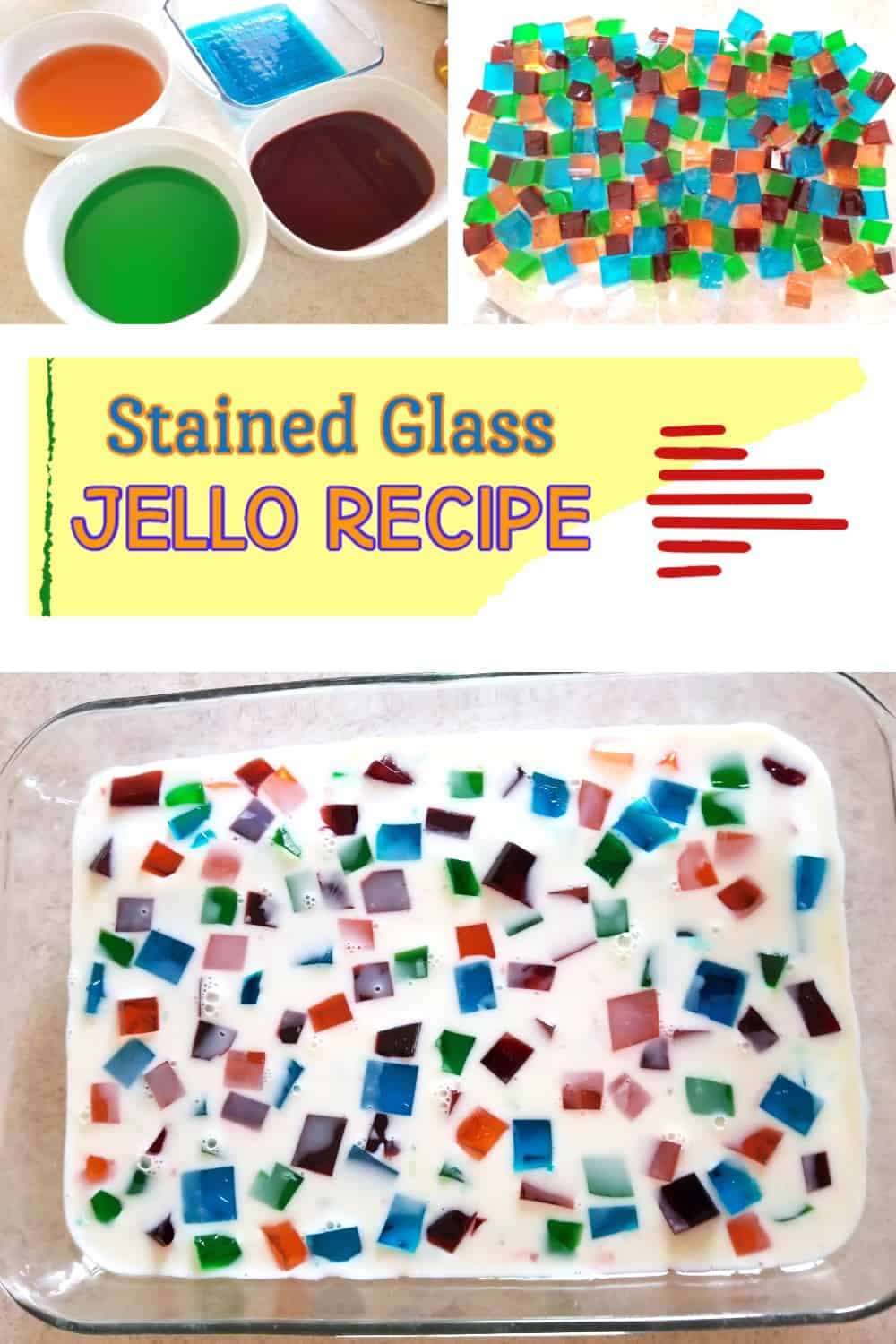 Stained Glass Jello Recipe - Unique Holiday Dessert for Your Dinner Table