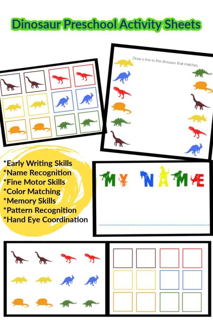 Preschool Dinosaur Worksheets