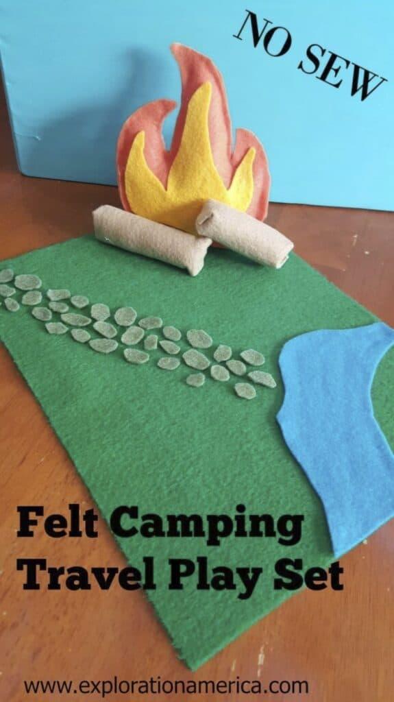 felt camping play set