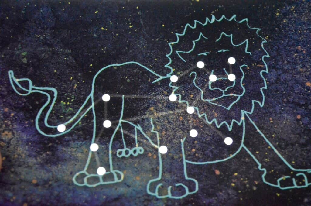 lion constellation card for science