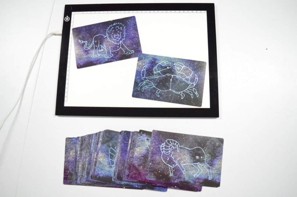 light table constellation cards