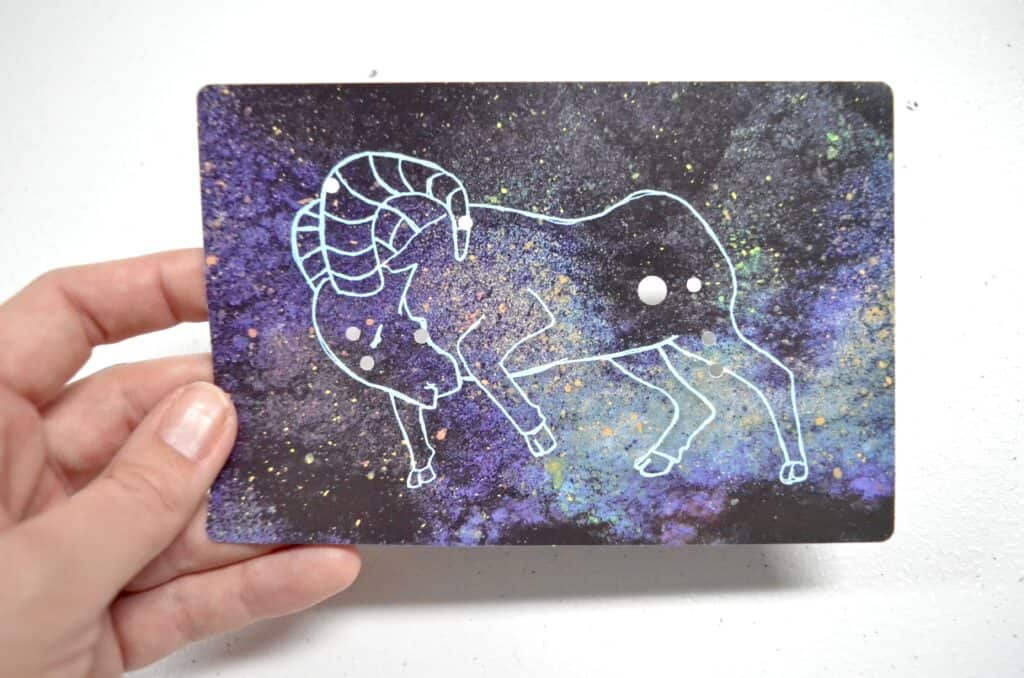 ram constellation card for science lessons