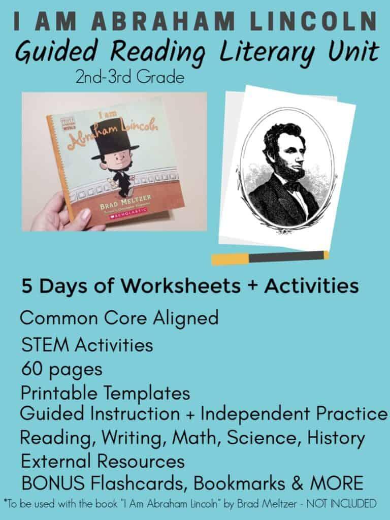 I Am Abraham Lincoln Literary Unit