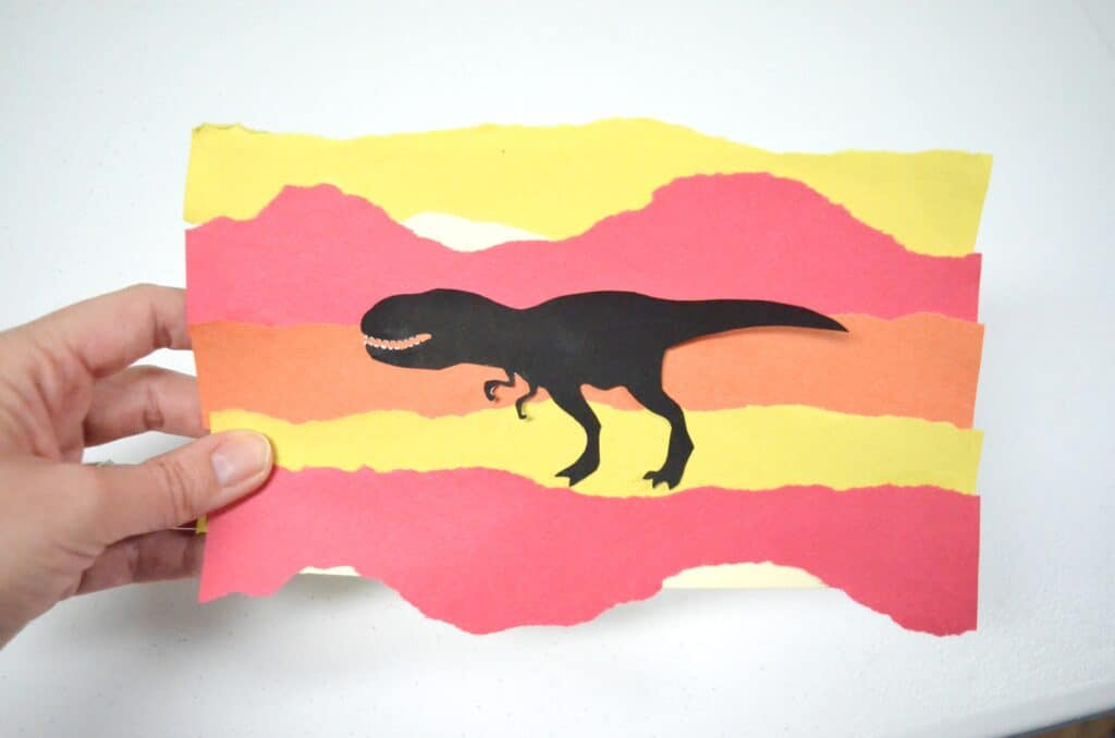 Dinosaur Art Activities for Kids - Silhouette Sensory Creations