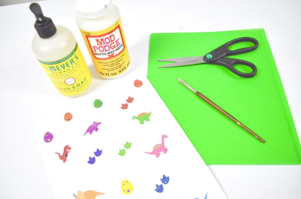 How to Make Scented Dinosaur Stickers Tutorial