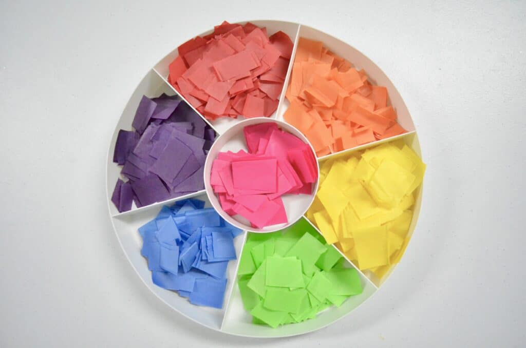 tissue paper craft supplies stock image