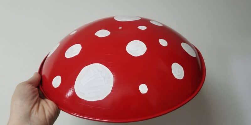 metal mushroom art bowl