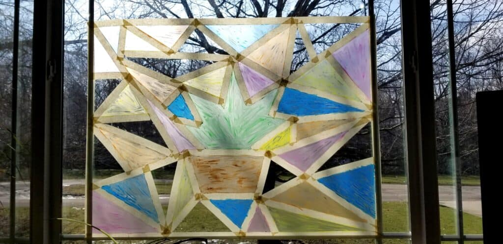 stained glass window paint art