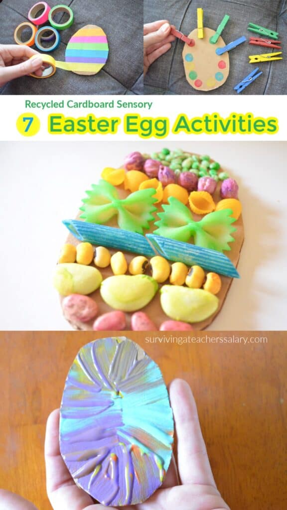 7 Cardboard Easter Egg Art Activities for Preschoolers