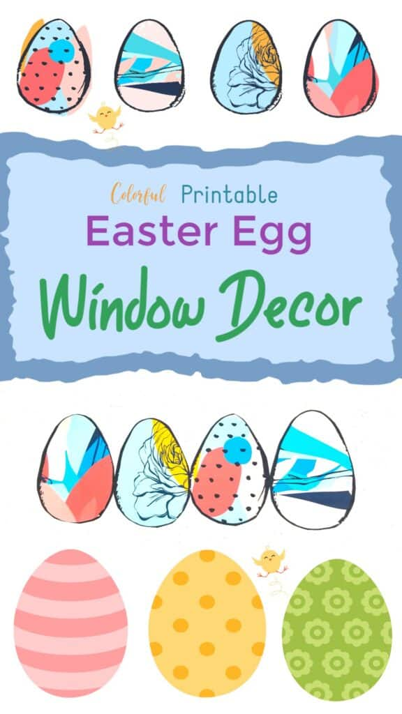 Color Easter Egg Printable Window Designs