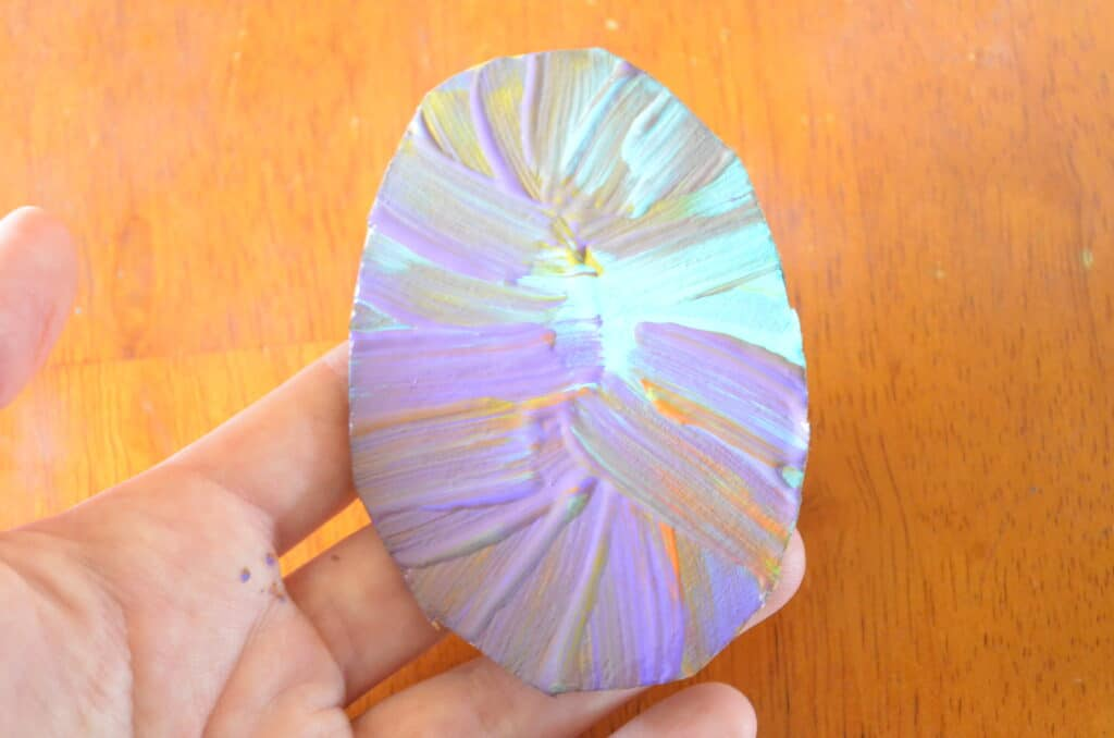 tie dye paint easter egg craft