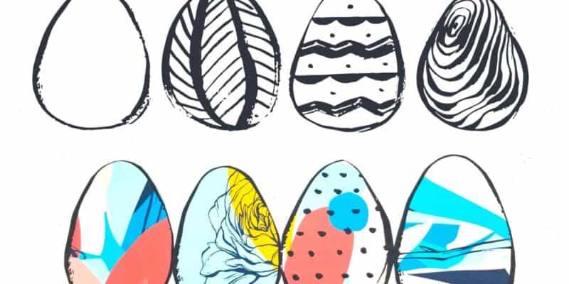 Easter Egg printable window decor
