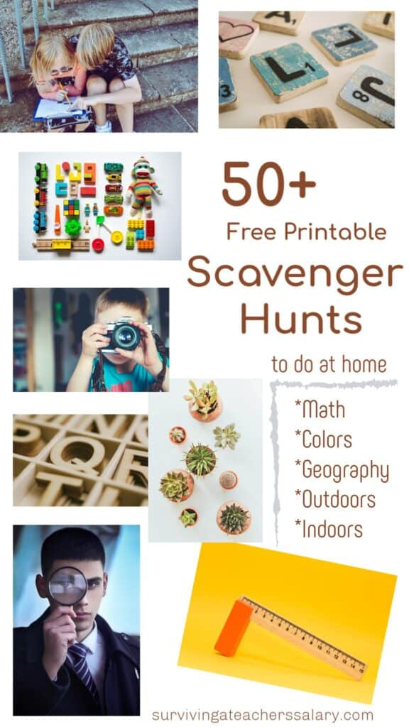 FREE Printable Scavenger Hunts To Do at Home