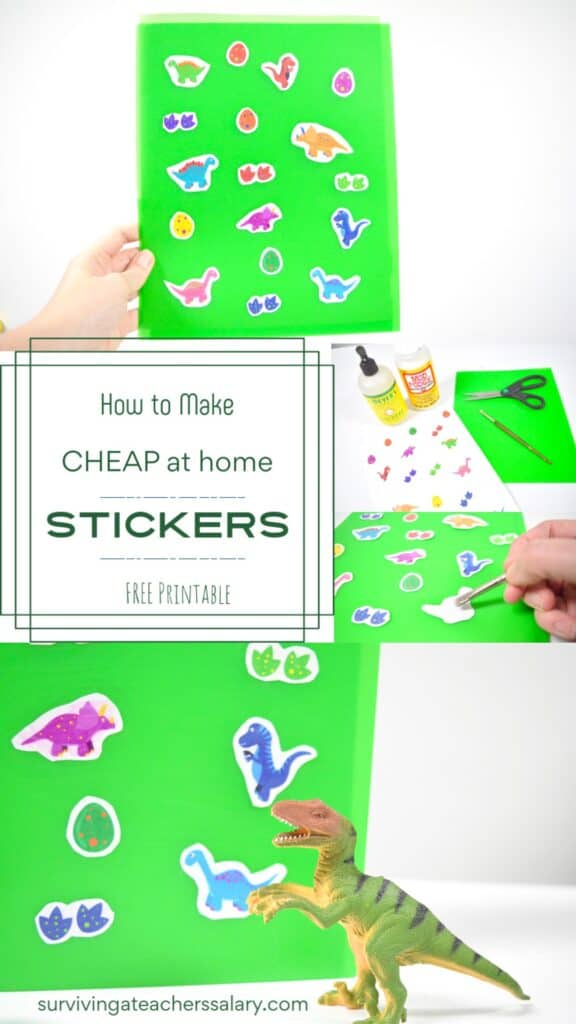 How to Make Your Own Stickers Tutorial - Scented Dinosaur Sensory Craft