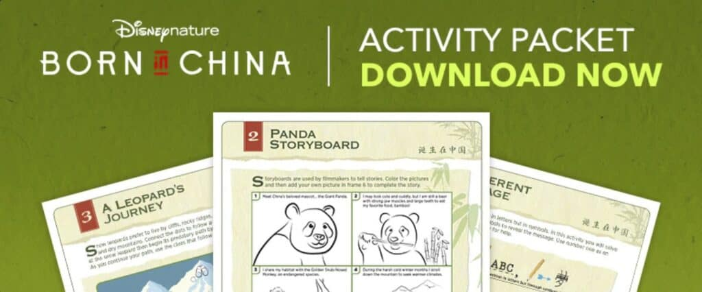 Disney Nature Born in China Kid's Printable Activity Guide