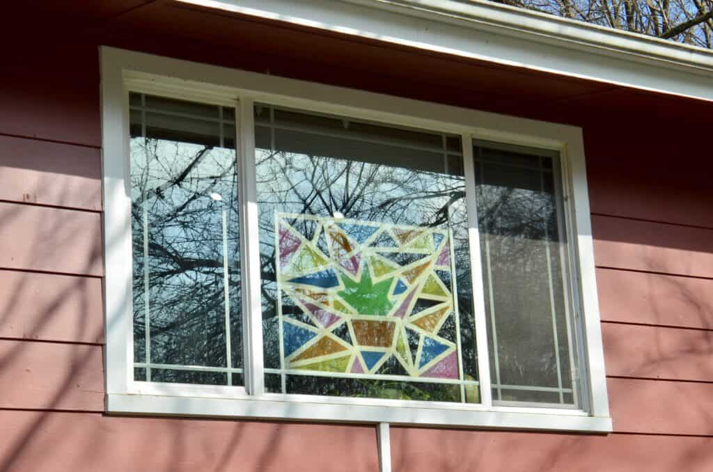 stained glass plant window art