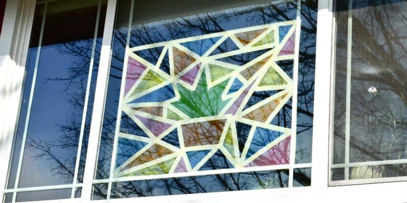 stained glass window paint art project