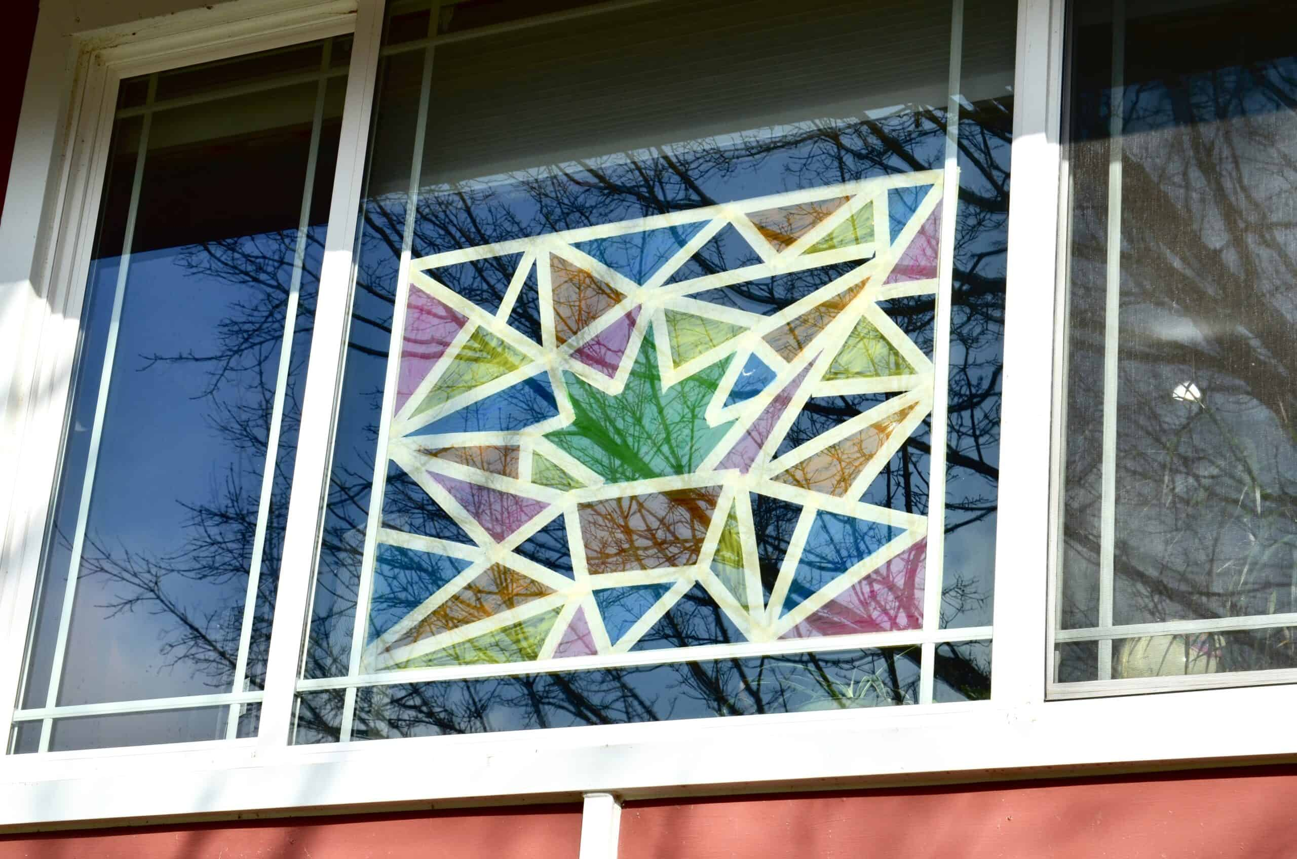 How To Paint Stained Glass Windows At Home Art Activity For Kids