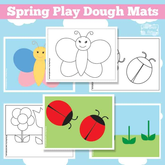 Spring Play Dough Mats - Free Printable