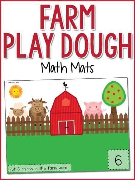 Farm Yard Play Dough Counting Mats