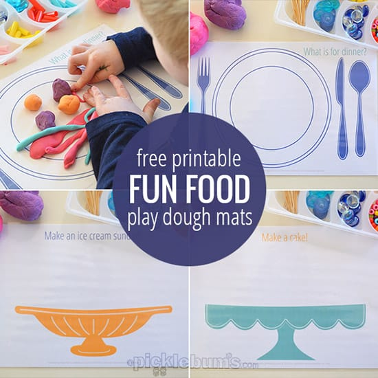 Fun Food Play Dough Mats