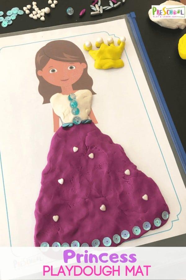 FREE Princess Playdough Mats