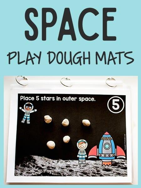 Space Play Dough Math Mats