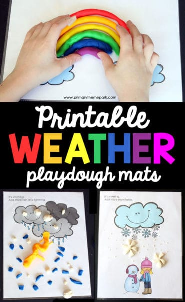 Weather Playdough Mats